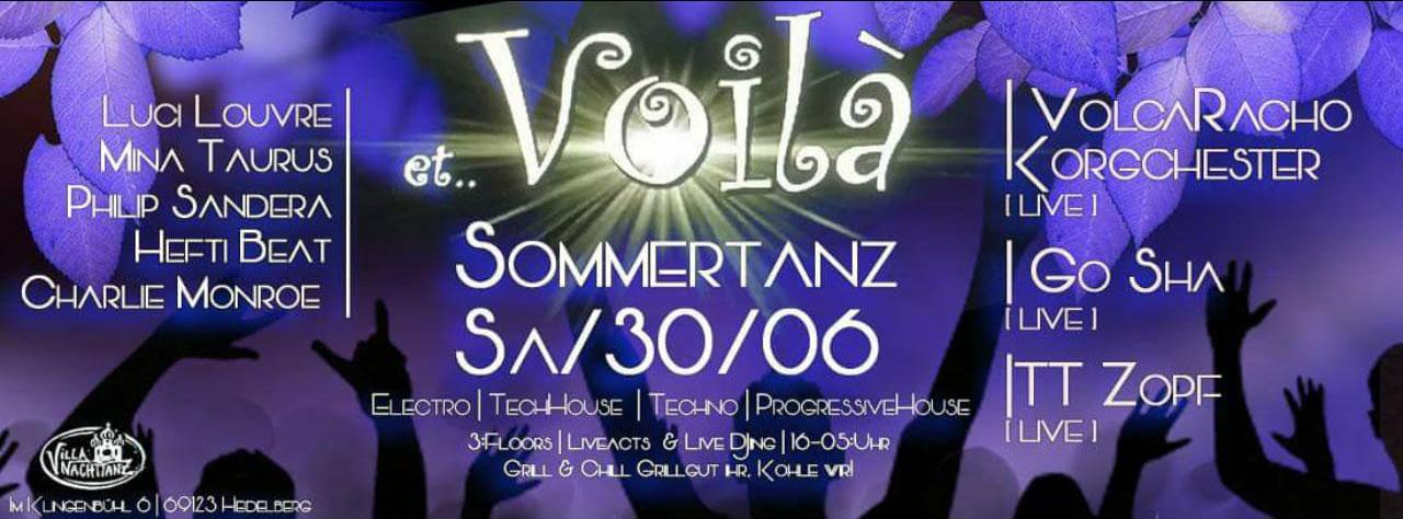 Et Voila Sommertanz LineUp